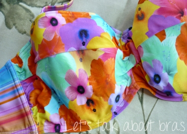 Midnight Grace Jasmine Underwire Twist Bandeau Bikini Top, cup detail