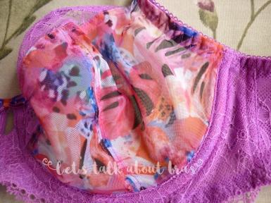 Freya Wildfire plunge bra, 30DD, cup detail